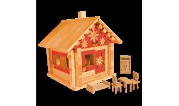 Конструктор Избушка теремок с мебелью и росписью