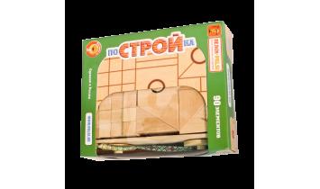 Набор геометрических форм в тележке ПоСТРОЙка