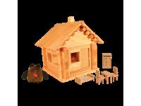 Конструктор Избушка теремок с куклой и мебелью