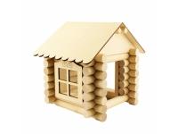Конструктор Собери дом из бревнышек №1, 65 деталей