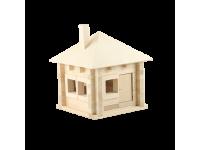 Конструктор Изба с шатровой крышей (комплект 60 шт)